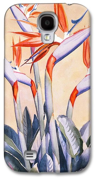 Picture Paintings Galaxy S4 Cases - Birds of Paradise Galaxy S4 Case by Mary Helmreich