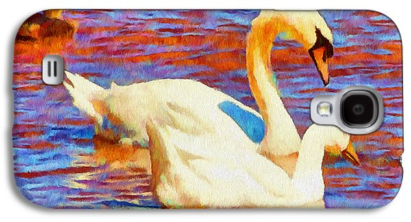 Birds On The Lake Galaxy S4 Case by Jeff Kolker