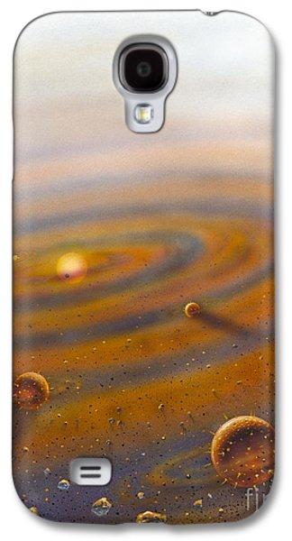 Cosmological Galaxy S4 Cases - Birth Of A Solar System, Artwork Galaxy S4 Case by David A. Hardy