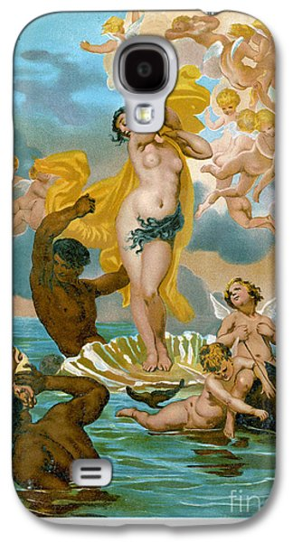 Historical Images Galaxy S4 Cases - Birth Of Aphrodite-1891 Lithograph Galaxy S4 Case by Mary Evans