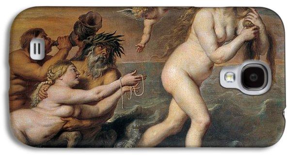 1636 Paintings Galaxy S4 Cases - Birth of Venus Galaxy S4 Case by Cornelis de Vos