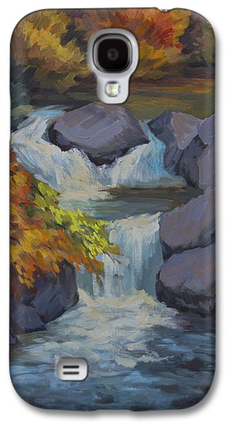 Waterscape Paintings Galaxy S4 Cases - Bishop Creek Galaxy S4 Case by Diane McClary