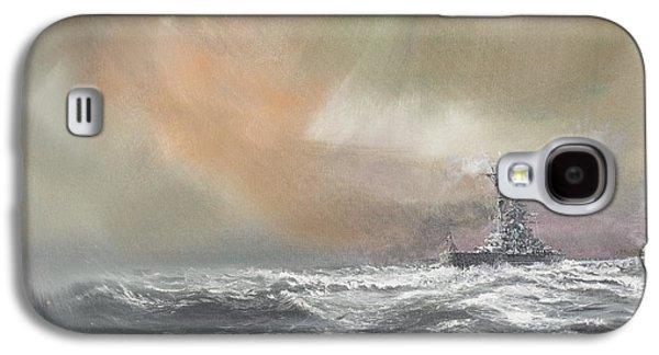 Oil Slick Galaxy S4 Cases - Bismarck signals Prinz Eugen  Galaxy S4 Case by Vincent Alexander Booth
