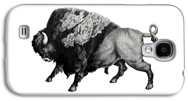 Bison Drawings Galaxy S4 Cases - Bison Galaxy S4 Case by Alexander M Petersen