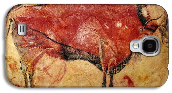 Bison Drawings Galaxy S4 Cases - Bison Altamira Cave Galaxy S4 Case by L Brown