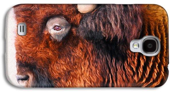Bison Digital Art Galaxy S4 Cases - Bison Galaxy S4 Case by Anna Surface