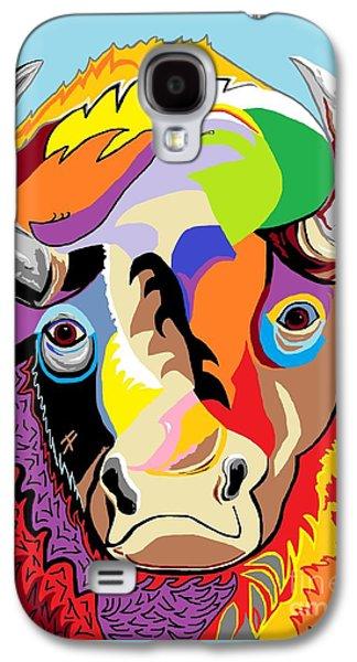 Bison Digital Art Galaxy S4 Cases - Bison Galaxy S4 Case by Eloise Schneider
