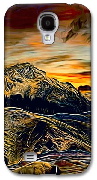Bison Digital Art Galaxy S4 Cases - Bison in Yellowstone Galaxy S4 Case by Larry Espinoza