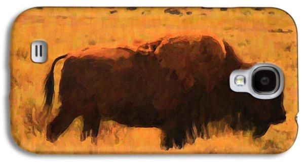 Bison Digital Art Galaxy S4 Cases - Bison Galaxy S4 Case by Jo-Anne Gazo-McKim