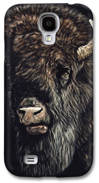 Bison Mixed Media Galaxy S4 Cases - Bison Galaxy S4 Case by Joseph Robertson