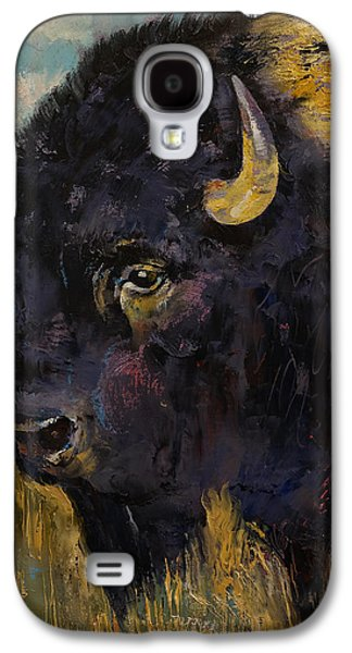 Earth Tones Galaxy S4 Cases - Bison Galaxy S4 Case by Michael Creese