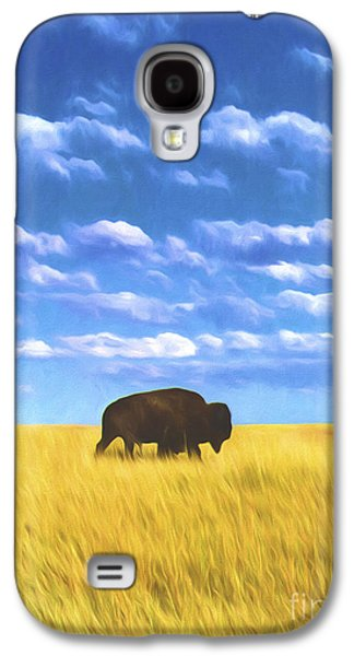 Bison Digital Galaxy S4 Cases - Bison on the Plains Galaxy S4 Case by Steve Bailey