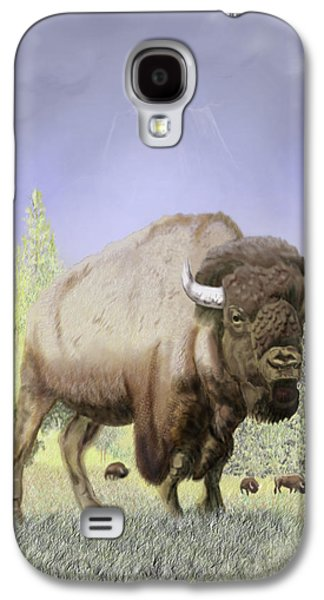 Bison Digital Galaxy S4 Cases - Bison on the Range Galaxy S4 Case by Thomas J Herring
