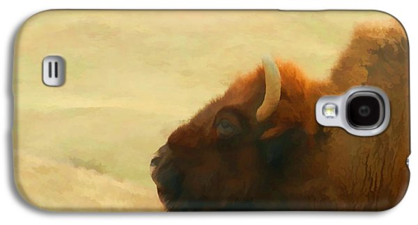 Bison Digital Galaxy S4 Cases - Bison or Buffalo in South Dakota Galaxy S4 Case by Cathy Anderson