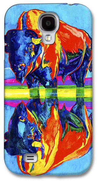 American Bison Galaxy S4 Cases - Bison reflections Galaxy S4 Case by Derrick Higgins