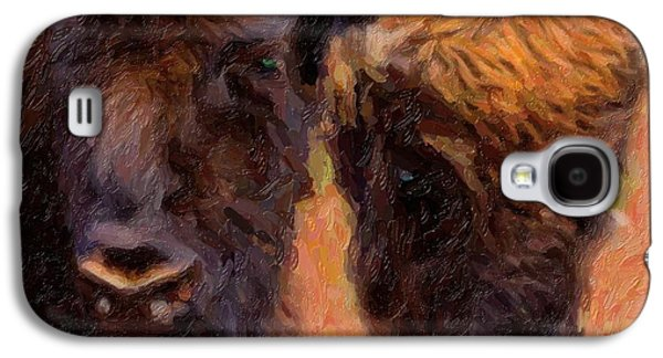 Bison Mixed Media Galaxy S4 Cases - Bison Galaxy S4 Case by Toppart Sweden