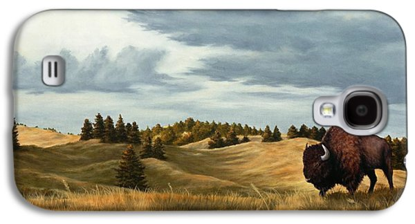 Bison Paintings Galaxy S4 Cases - Bison  Wind Cave Park  South Dakota Galaxy S4 Case by Rick Bainbridge
