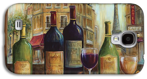 Wine Bottle Galaxy S4 Cases - Bistro De Paris Galaxy S4 Case by Marilyn Dunlap