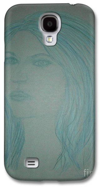 Etc. Drawings Galaxy S4 Cases - Biviana in Blue Galaxy S4 Case by James Eye