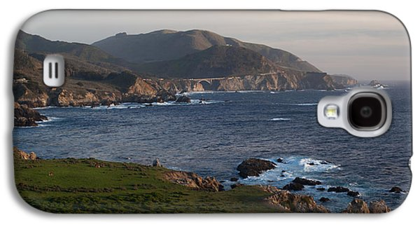 Bixby Bridge Galaxy S4 Cases - Bixby Bridge and Cows Galaxy S4 Case by Mike Reid