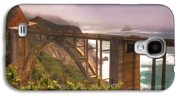 Bixby Bridge Galaxy S4 Cases - Bixby Bridge at Big Sur Galaxy S4 Case by Donna Kennedy