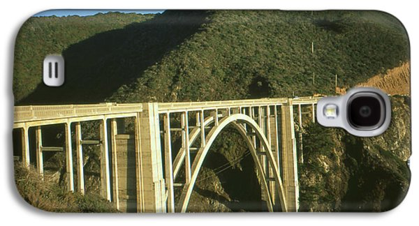 Bridge On Highway One Galaxy S4 Cases - Bixby Bridge California - Highway Number One - Color Photo Galaxy S4 Case by Peter Fine Art Gallery  - Paintings Photos Digital Art