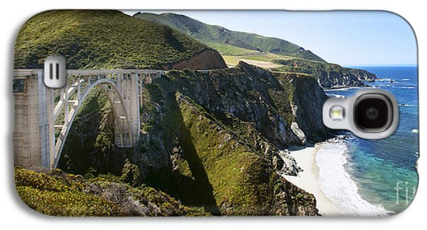 San Francisco Famous Photographers Galaxy S4 Cases - Bixby Bridge near Big Sur on Highway One in California Galaxy S4 Case by Artist and Photographer Laura Wrede