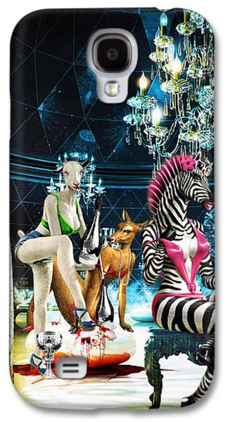 Goat Digital Art Galaxy S4 Cases - Bizanca Galaxy S4 Case by Jan Rafael