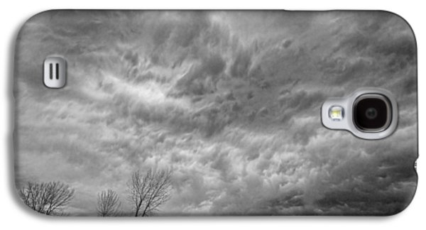 Storm Prints Photographs Galaxy S4 Cases - Black and White Angry Skies Galaxy S4 Case by James BO  Insogna