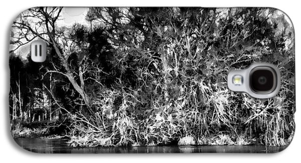 Trees Reflecting In Creek Galaxy S4 Cases - Black and white Artistic Big Tree Colored Coloured #orange By Sun On January 2 2015 Besides The Cree Galaxy S4 Case by Leif Sohlman