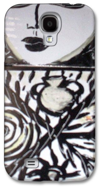 Catherine White Ceramics Galaxy S4 Cases - Black and white Galaxy S4 Case by Catherine Walker