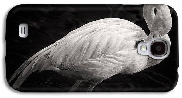Black And White Flamingo Galaxy S4 Case by Adam Romanowicz