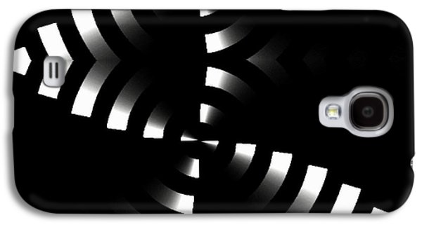 Shower Curtain Galaxy S4 Cases - Black and White II Galaxy S4 Case by Rafael Salazar