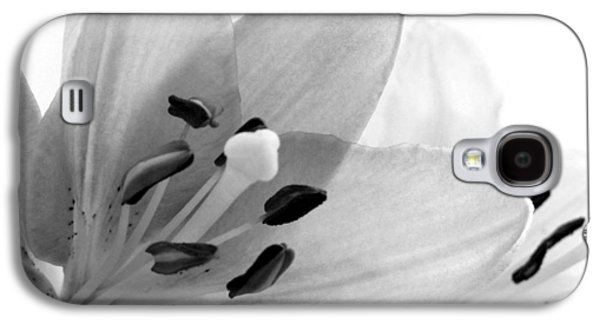 Modern Abstract Photographs Galaxy S4 Cases - Black and White Lilies Galaxy S4 Case by Marianna Mills