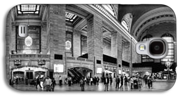 Panoramic Galaxy S4 Cases - Black and White Pano of Grand Central Station - NYC Galaxy S4 Case by David Smith