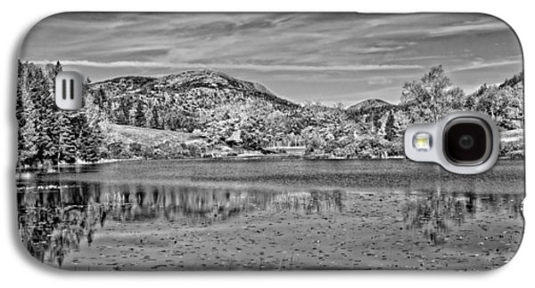 Autumn Landscape Digital Art Galaxy S4 Cases - Black And White Photo Of Long Pond Acadia National Park Maine Galaxy S4 Case by Keith Webber Jr