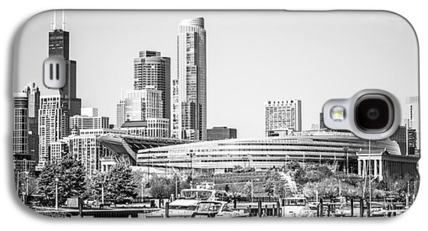 Soldier Field Galaxy S4 Cases - Black and White Picture of Chicago Skyline Galaxy S4 Case by Paul Velgos