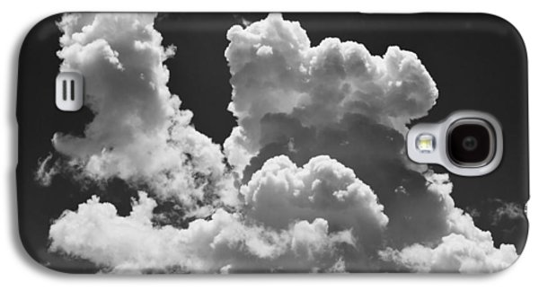 Stormy Weather Galaxy S4 Cases - Black And white Sky With Building Storm Clouds Galaxy S4 Case by Keith Webber Jr