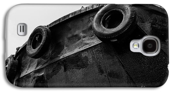 Aft Galaxy S4 Cases - Black and White Stern with Ladder and Tires Galaxy S4 Case by Dean Harte