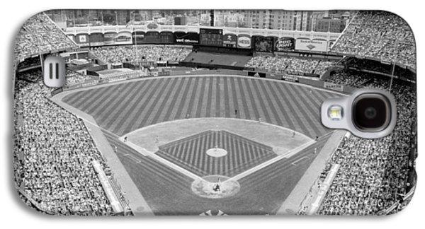 Black And White Yankee Stadium Galaxy S4 Case by Horsch Gallery