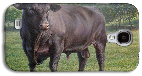 Black Angus Galaxy S4 Cases - Black Angus Bull 2 Galaxy S4 Case by Hans Droog