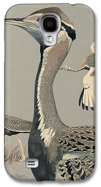 1874 Galaxy S4 Cases - Black Bellied Bustard Galaxy S4 Case by Louis Agassiz Fuertes