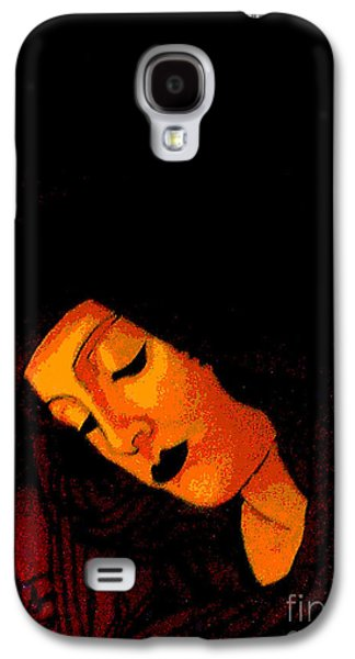 Byzantine Paintings Galaxy S4 Cases - Black Botticelli Madonna Galaxy S4 Case by Genevieve Esson