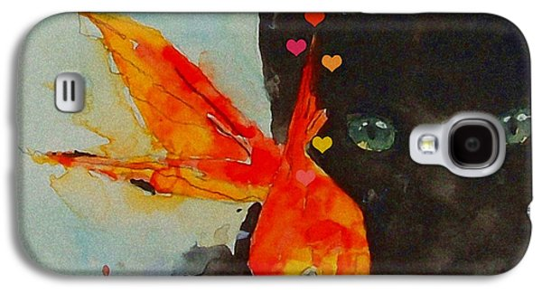 Black Cat And The Goldfish Galaxy S4 Case by Paul Lovering