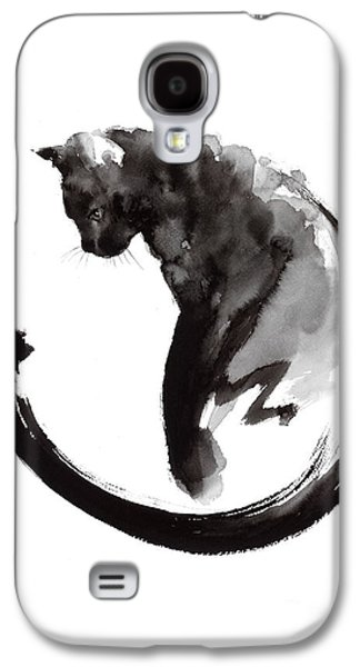 Black Cat Galaxy S4 Case by Mariusz Szmerdt