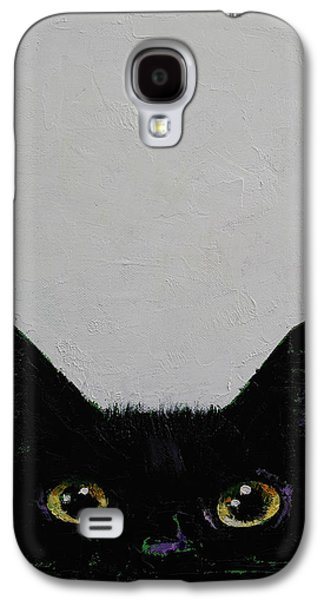 Trippy Paintings Galaxy S4 Cases - Ninja Cat Galaxy S4 Case by Michael Creese