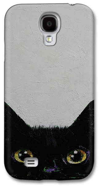 Trippy Galaxy S4 Cases - Ninja Cat Galaxy S4 Case by Michael Creese