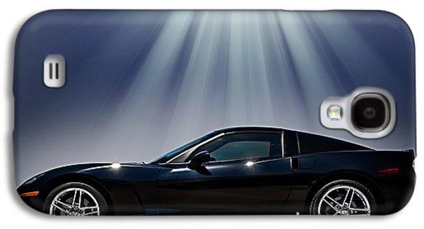 Black Digital Art Galaxy S4 Cases - Black Corvette Galaxy S4 Case by Douglas Pittman