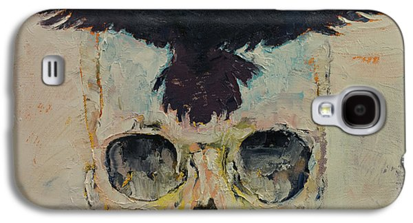 Surrealistic Paintings Galaxy S4 Cases - Black Crow Galaxy S4 Case by Michael Creese