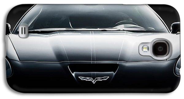 Black Digital Art Galaxy S4 Cases - Black Grand Sport Corvette Galaxy S4 Case by Douglas Pittman